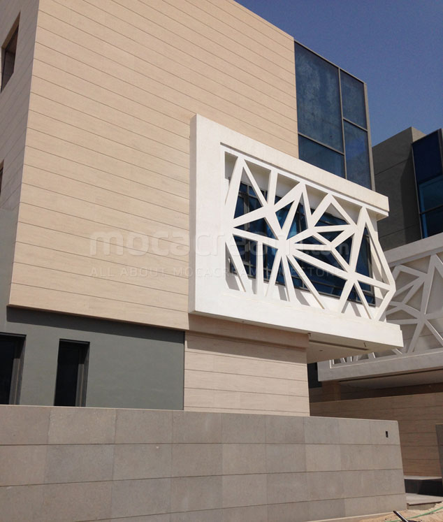 Moca Cream limestone cladding Kuwait