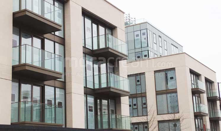 Lillie Square / Cabeca Veada limestone / London UK