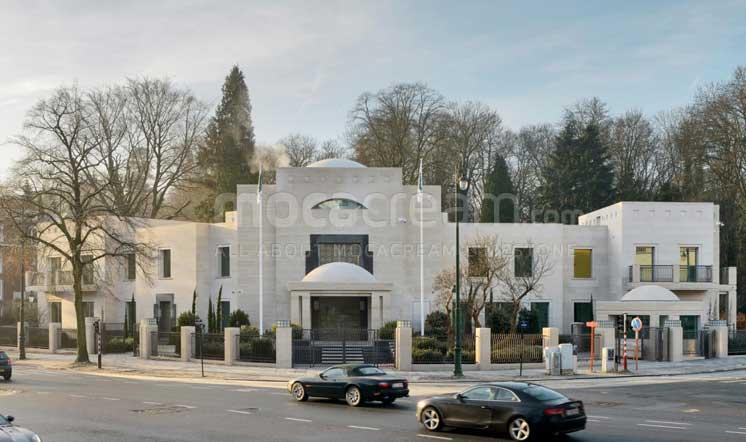 Qatar embassy / Moca Cream limestone / Brussels Belgium