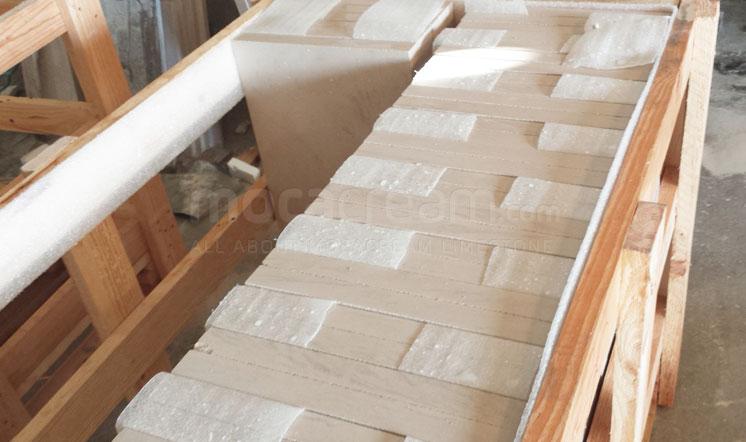 Moca Cream limestone crate