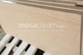 Moca Cream limestone cross-cut panels