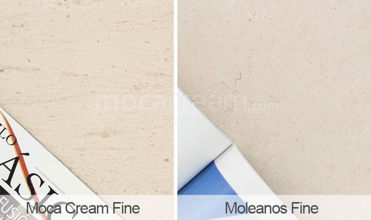 Moca Cream vs Moleanos - fine grain