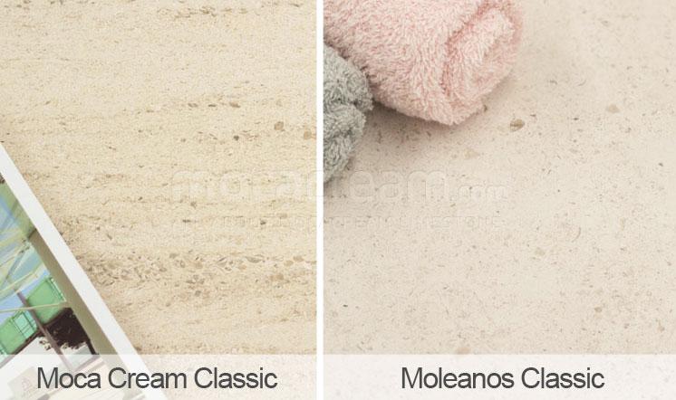 Moca Cream vs Moleanos - medium grain